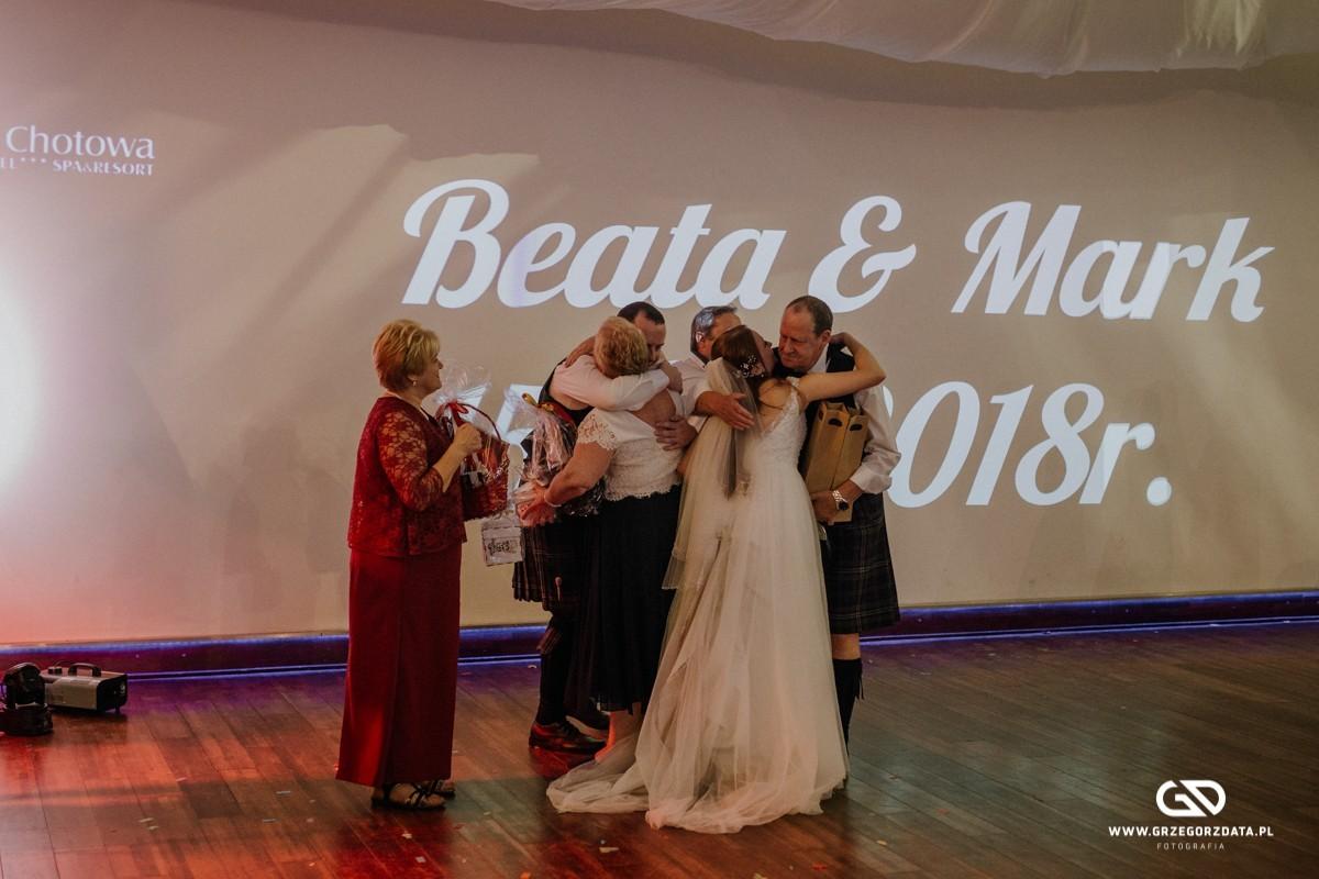 Beata i Mark  - ślub polsko- szkocki. Fotograf Tarnów 79