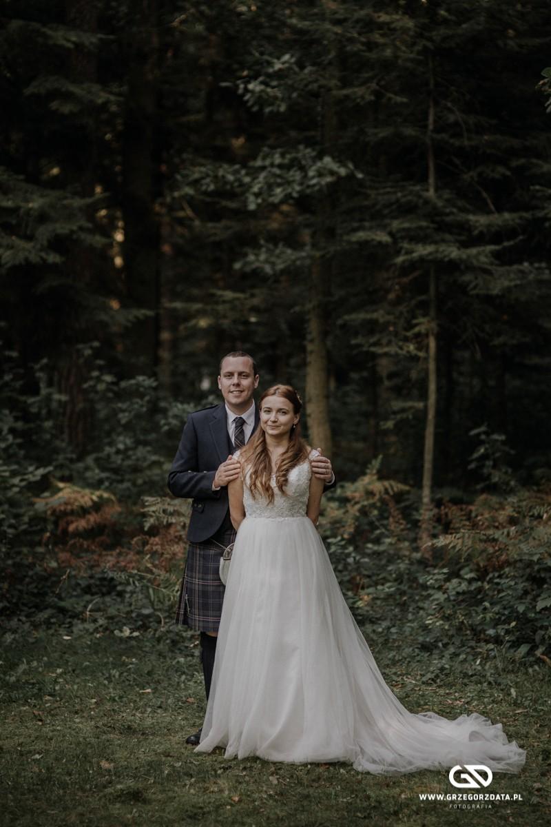 Beata i Mark  - ślub polsko- szkocki. Fotograf Tarnów 98