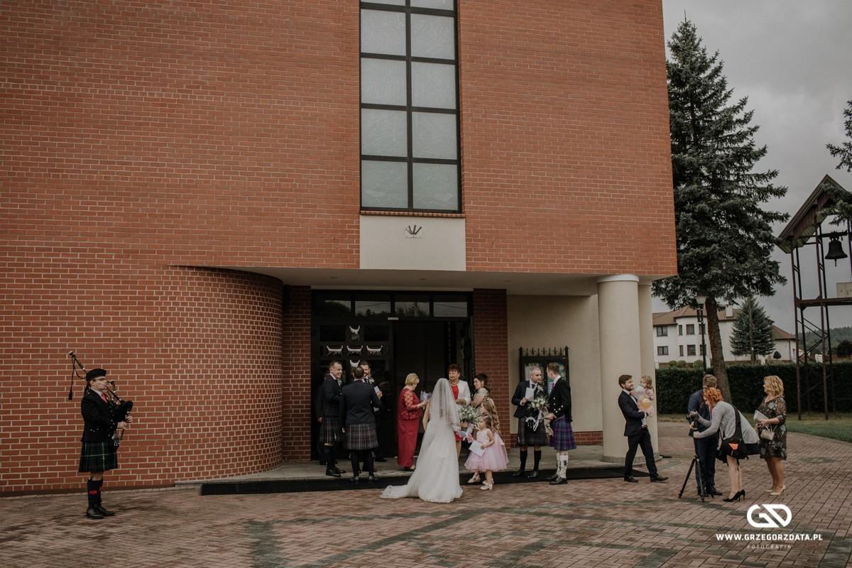 Beata i Mark  - ślub polsko- szkocki. Fotograf Tarnów 6