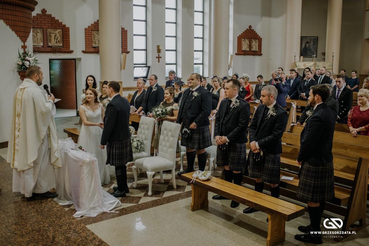 Beata i Mark  - ślub polsko- szkocki. Fotograf Tarnów 22