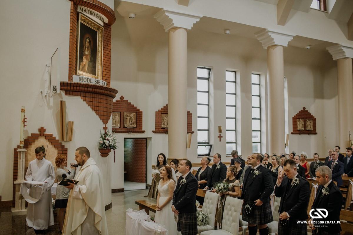 Beata i Mark  - ślub polsko- szkocki. Fotograf Tarnów 24