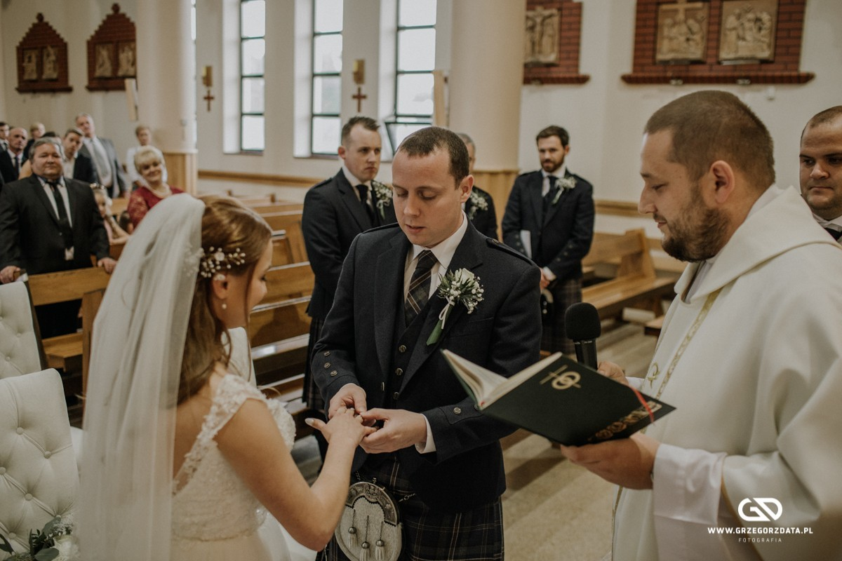 Beata i Mark  - ślub polsko- szkocki. Fotograf Tarnów 27