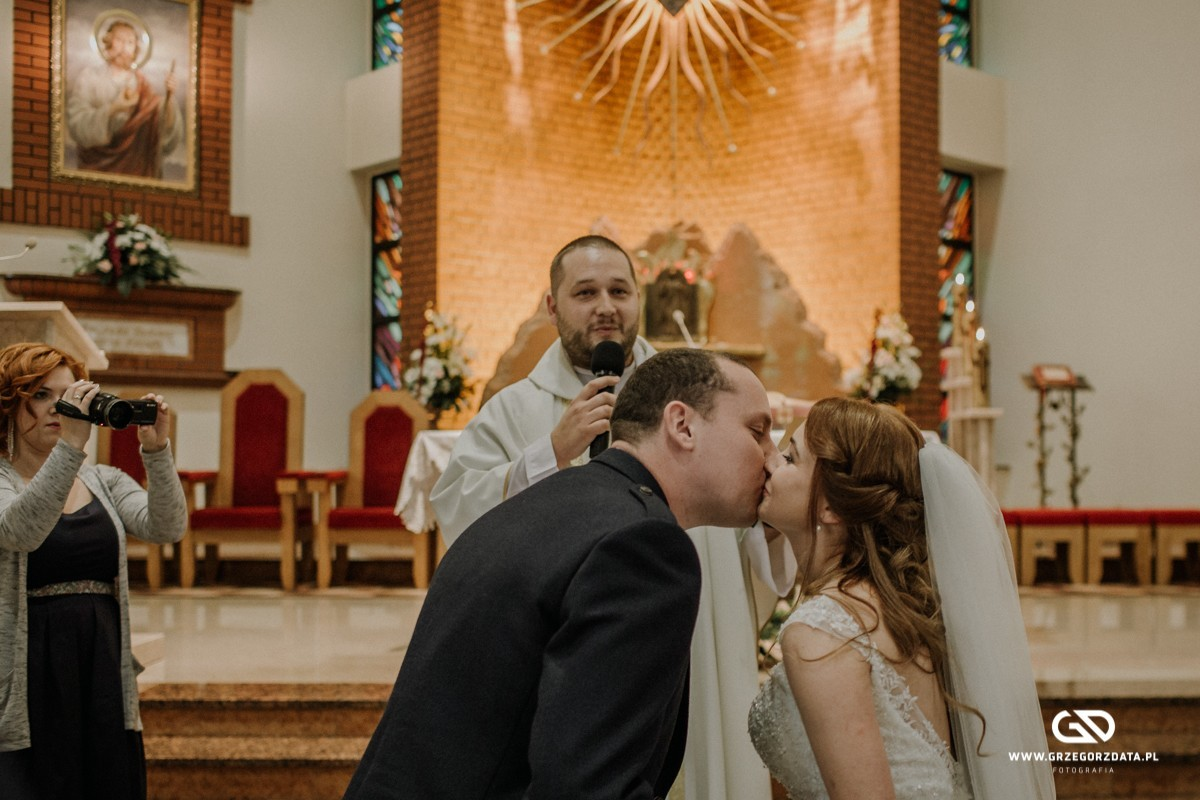 Beata i Mark  - ślub polsko- szkocki. Fotograf Tarnów 29