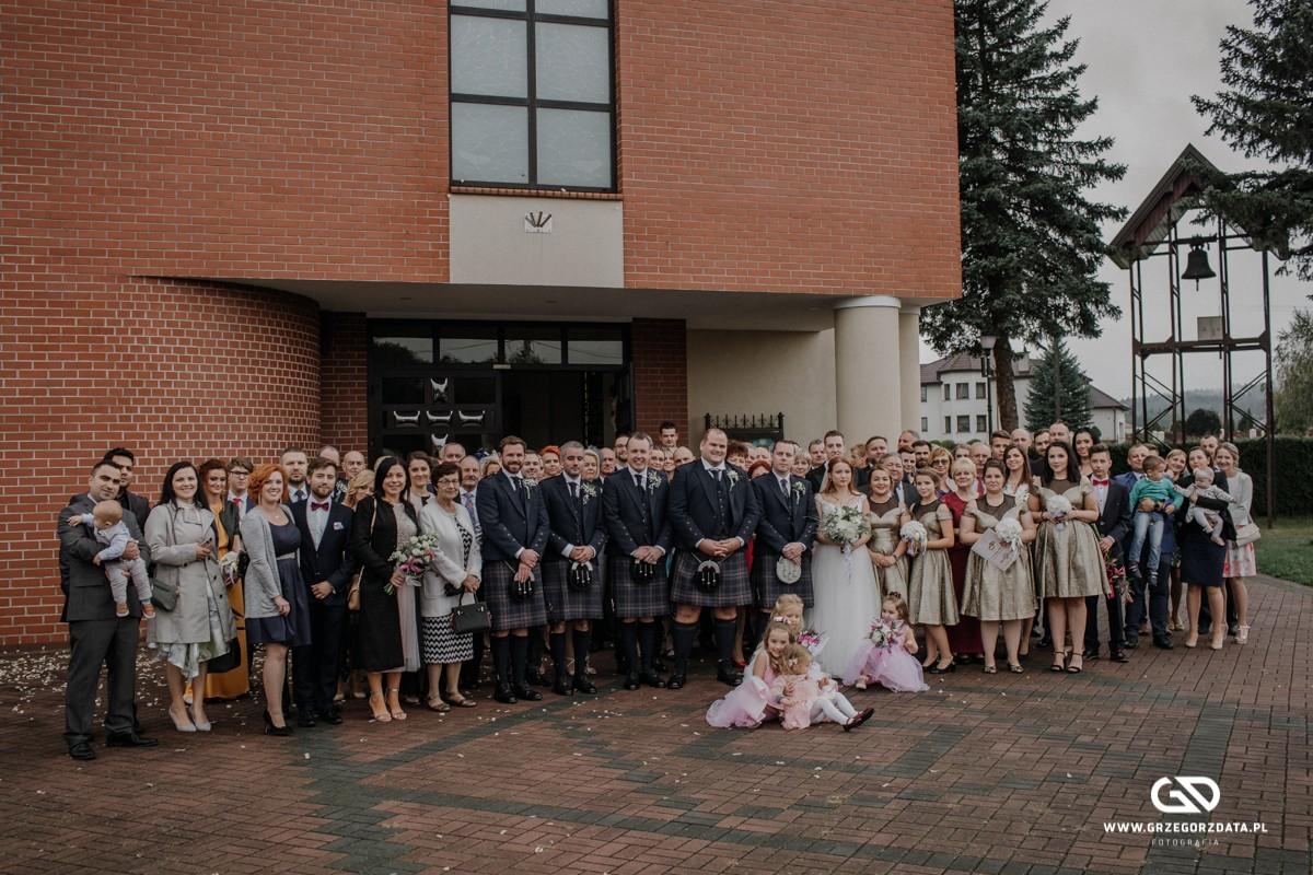 Beata i Mark  - ślub polsko- szkocki. Fotograf Tarnów 37