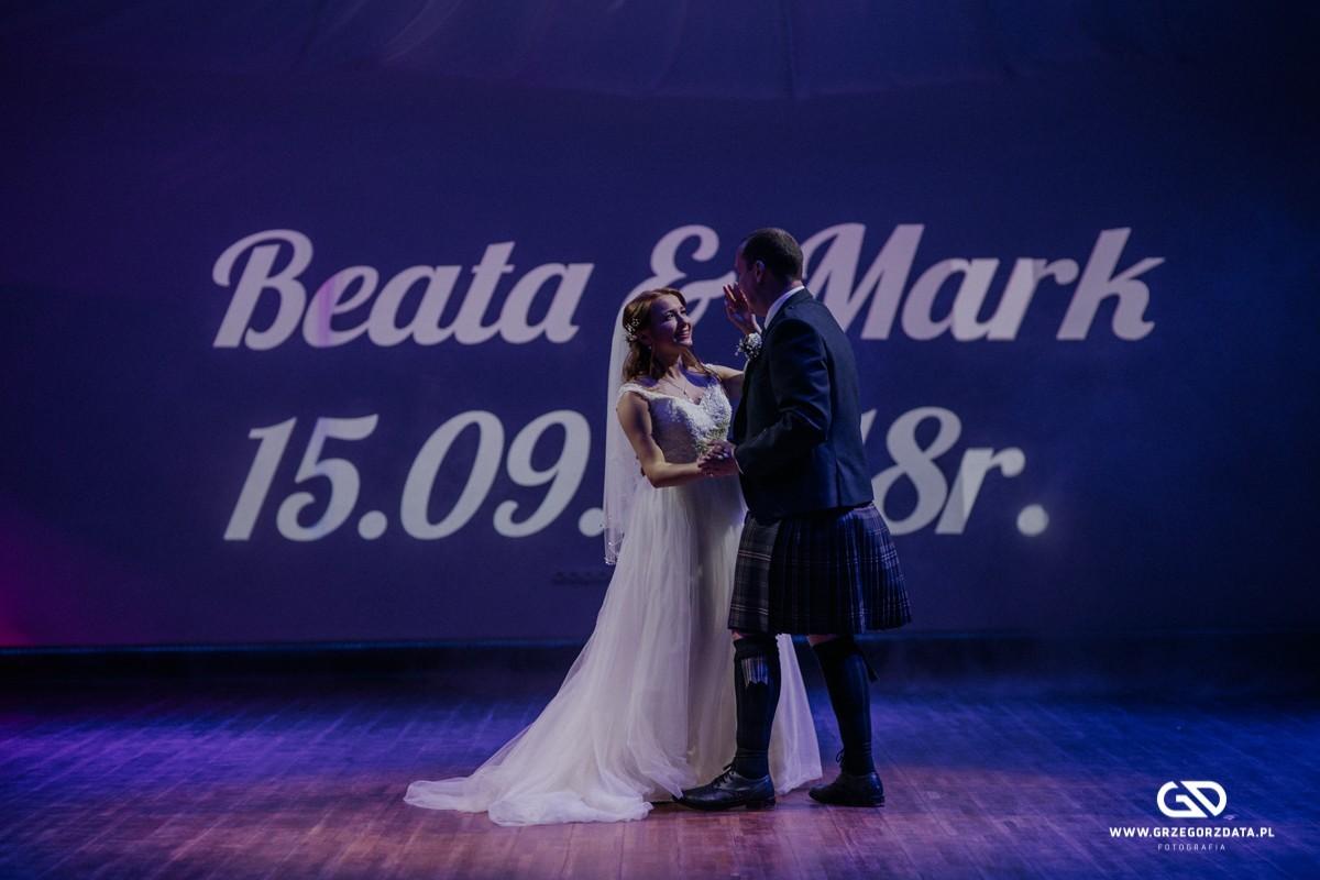 Beata i Mark  - ślub polsko- szkocki. Fotograf Tarnów 50